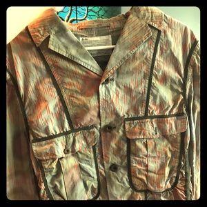 Kolor printed wrinkled printed poplin jacket sz 5.